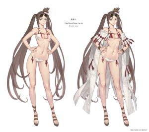 Rating: Questionable Score: 28 Tags: bikini character_design consort_yu_(fate/grand_order) fate/grand_order ki_min-woo megane swimsuits User: Genex