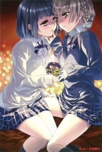 Rating: Safe Score: 18 Tags: christmas katagiri_hinata seifuku sweater yuri User: Twinsenzw