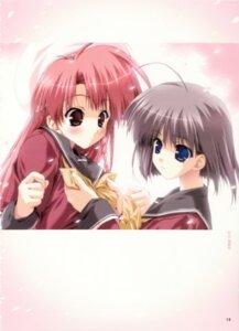 Rating: Safe Score: 5 Tags: boy_meets_girl kasugano_haruna seifuku tsubasa_miu User: admin2