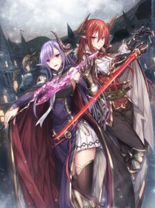Rating: Safe Score: 53 Tags: armor elf horns luzi pointy_ears sword thighhighs User: Mr_GT