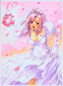 Rating: Safe Score: 21 Tags: cleavage dress kazami_mizuho onegai_teacher uon_taraku wedding_dress User: Nazzrie