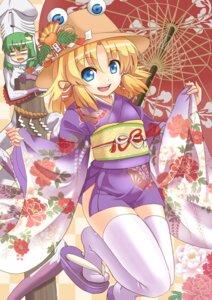 Rating: Questionable Score: 14 Tags: kimono kochiya_sanae moriya_suwako taishi thighhighs touhou User: Mr_GT