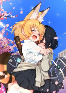 Rating: Safe Score: 26 Tags: animal_ears kaban_(kemono_friends) kemono_friends pantyhose seifuku serval sweater tail thighhighs try User: Mr_GT