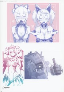 Rating: Questionable Score: 11 Tags: 2d cleavage horns leotard mecha no_bra tagme User: kiyoe
