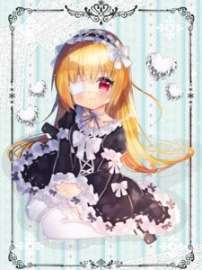 Rating: Safe Score: 23 Tags: dress eyepatch gothic_lolita kohaku_muro lolita_fashion thighhighs User: sym455