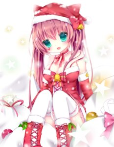 Rating: Safe Score: 33 Tags: christmas cleavage dress nachi thighhighs User: Zenex