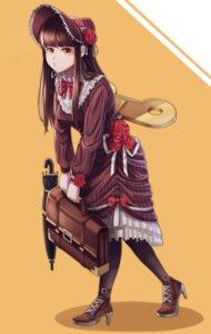 Rating: Safe Score: 10 Tags: dress heels mecha_musume tagme umbrella User: saemonnokami