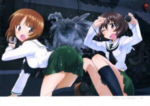 Rating: Questionable Score: 33 Tags: akiyama_yukari ass girls_und_panzer nishizumi_miho seifuku sugimoto_isao wet_clothes User: drop