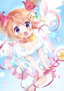 Rating: Safe Score: 22 Tags: card_captor_sakura cleavage cosplay dress gochuumon_wa_usagi_desu_ka? hoto_cocoa kinomoto_sakura tagme thighhighs weapon wings User: Nico-NicoO.M.