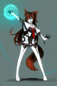 Rating: Safe Score: 13 Tags: animal_ears heterochromia shirogane_usagi tail thighhighs User: charunetra