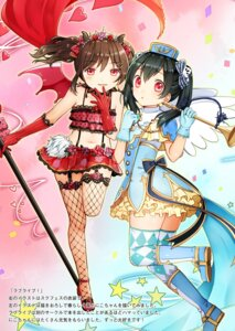 Rating: Questionable Score: 5 Tags: fishnets heels horns love_live! stockings tagme thighhighs uniform yazawa_nico User: Radioactive