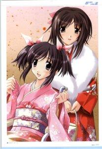Rating: Safe Score: 6 Tags: kashima_mifu kashima_neo kimono memories_off omoide_ni_kawaru_kimi_memories_off sasaki_mutsumi User: admin2