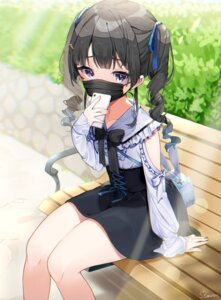 Rating: Safe Score: 24 Tags: koyubita nijisanji skirt_lift tsukino_mito User: BattlequeenYume