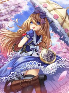 Rating: Safe Score: 30 Tags: heels lolita_fashion shadowverse tagme thighhighs umbrella User: Mr_GT