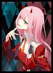 Rating: Safe Score: 51 Tags: darling_in_the_franxx fuyuno_yuuki horns uniform zero_two_(darling_in_the_franxx) User: charunetra