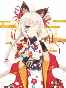 Rating: Safe Score: 74 Tags: animal_ears kimono nibiiro_shizuka tail User: Mr_GT
