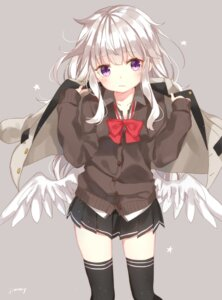 Rating: Safe Score: 63 Tags: jimmy seifuku sweater thighhighs wings User: Mr_GT