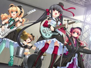 Rating: Safe Score: 39 Tags: cleavage game_cg guitar lolita_fashion lyrical! pantyhose sorimura_youji thighhighs trap yumemisou User: midzki