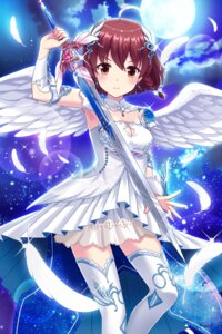 Rating: Safe Score: 39 Tags: alternative_girls armor cleavage sword thighhighs wings User: saemonnokami