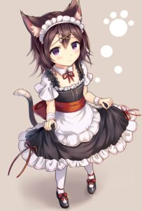 Rating: Safe Score: 48 Tags: animal_ears maid sakura_ani skirt_lift tail User: Mr_GT