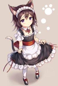 Rating: Safe Score: 50 Tags: animal_ears maid sakura_ani skirt_lift tail User: Mr_GT