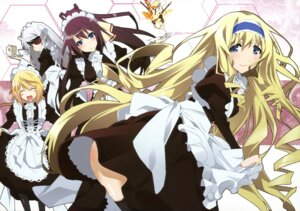 Rating: Safe Score: 66 Tags: cecilia_alcott charlotte_dunois infinite_stratos laura_bodewig maid okiura shinonono_houki thighhighs User: blooregardo