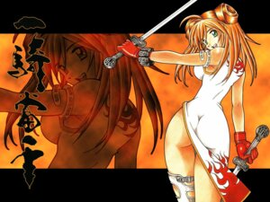 Rating: Safe Score: 18 Tags: ass chinadress ikkitousen jpeg_artifacts shiozaki_yuuji sonsaku_hakufu sword wallpaper User: bigchoofa