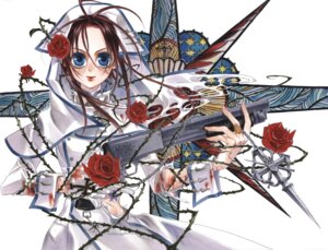 Rating: Safe Score: 3 Tags: esther_blanchett gun kyuujou_kiyo torn_clothes trinity_blood User: Radioactive