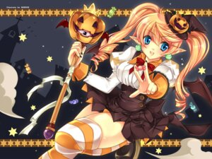 Rating: Safe Score: 24 Tags: dress elf halloween hareko pointy_ears thighhighs wallpaper witch User: Debbie