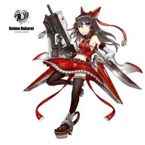 Rating: Safe Score: 18 Tags: gia gun hakurei_reimu thighhighs touhou User: SciFi