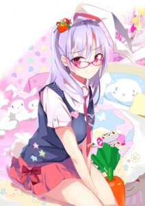 Rating: Safe Score: 41 Tags: animal_ears bunny_ears megane reisen_udongein_inaba seifuku tail tetsurou_(fe+) touhou User: Mr_GT