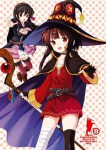 Rating: Safe Score: 15 Tags: bandages cleavage dress kono_subarashii_sekai_ni_shukufuku_wo! megumin thighhighs watari_masahito weapon witch yunyun_(kono_subarashii_sekai_ni_shukufuku_wo!) User: kiyoe