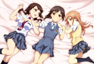 Rating: Safe Score: 60 Tags: kawaguchi_chisato miyamoto_konatsu okita_sawa sakai_wakana seifuku tari_tari User: Jigsy