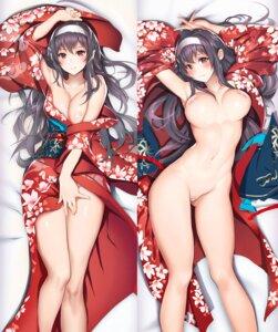 Rating: Questionable Score: 96 Tags: areola bandaid breast_hold breasts dakimakura kasumigaoka_utaha kimono maebari naked nene_(artist) no_bra nopan open_shirt pasties saenai_heroine_no_sodatekata User: BattlequeenYume