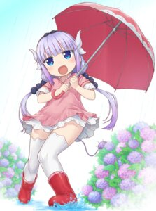 Rating: Safe Score: 26 Tags: dress horns kanna_kamui kobayashi-san_chi_no_maid_dragon komase_(jkp423) tail thighhighs umbrella User: Mr_GT