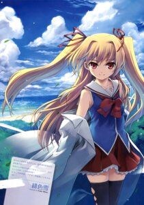 Rating: Safe Score: 52 Tags: hiiro_yuki irotoridori_no_sekai nikaidou_shinku seifuku thighhighs User: Kalafina