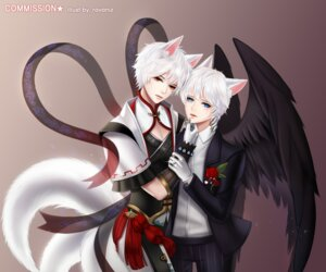 Rating: Safe Score: 9 Tags: animal_ears business_suit elsword heterochromia male ravaniz tail wings User: charunetra