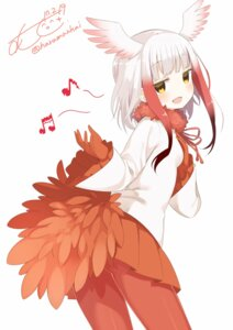 Rating: Safe Score: 43 Tags: crested_ibis kemono_friends muku-coffee pantyhose tail wings User: animeprincess