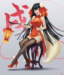 Rating: Safe Score: 25 Tags: chinadress cleavage darkmuleth heels pantsu tail thighhighs User: Mr_GT