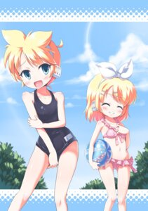 Rating: Safe Score: 11 Tags: bikini kagamine_len kagamine_rin morujii school_swimsuit swimsuits trap vocaloid User: Deathchipelago