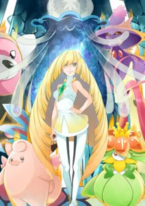 Rating: Questionable Score: 10 Tags: bewear clefable dress erect_nipples lilligant lusamine milotic mismagius nihilego pantyhose pokemon yuutarou_(pixiv822664) User: charunetra