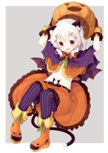 Rating: Safe Score: 38 Tags: animal_ears halloween muku-coffee nekomimi no_bra pantyhose tail User: nphuongsun93