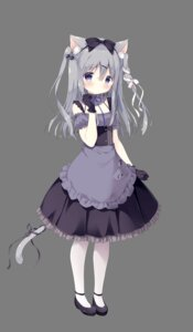 Rating: Safe Score: 31 Tags: amairo_chocolata animal_ears cabbage_soft nekomimi shiratama tail transparent_png waitress yukimura_chieri User: moonian