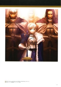 Rating: Safe Score: 7 Tags: armor fate/stay_night saber sword takeuchi_takashi type-moon User: fireattack