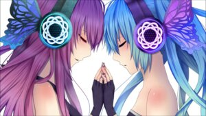 Rating: Safe Score: 56 Tags: hatsune_miku headphones magnet_(vocaloid) megurine_luka vocaloid wallpaper User: Zatsune_Miku