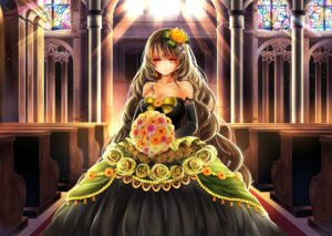 Rating: Safe Score: 51 Tags: cleavage dress kasugaya wedding_dress User: KazukiNanako