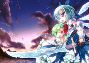 Rating: Safe Score: 16 Tags: cirno daiyousei kiira sword touhou wings User: fairyren
