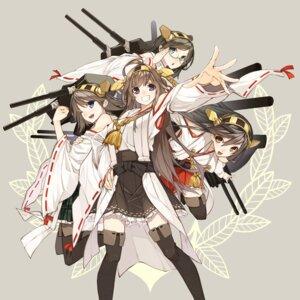 Rating: Safe Score: 45 Tags: haruna_(kancolle) hiei_(kancolle) kantai_collection kirishima_(kancolle) kongou_(kancolle) megane senmu thighhighs User: SubaruSumeragi