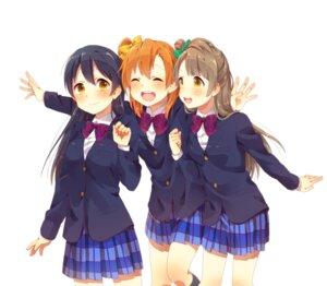 Rating: Safe Score: 24 Tags: kotori_(gokigen_iori) kousaka_honoka love_live! minami_kotori seifuku sonoda_umi User: KazukiNanako
