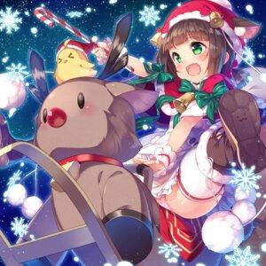 Rating: Safe Score: 49 Tags: animal_ears azur_lane christmas kokka_han mutsuki_(azur_lane) pantsu thighhighs User: Mr_GT